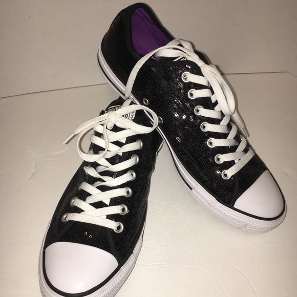 b369e3078fe6 Black sequence converse sneakers size 12